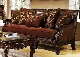ortona chocolate chenille sofa by homey design 301 s