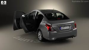 nissan tiida sedan interior 360 view of nissan versa sense with hq interior 2015 3d model