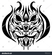 stylized image tiger head vector illustration stock vector