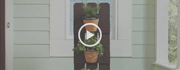 How To Build A Vertical Wall Garden by How To Build A Vertical Herb Garden