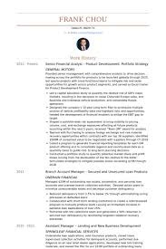 senior financial analyst resume samples visualcv resume samples