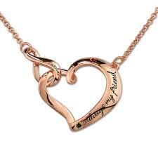 customized heart necklace customized engraved infinity heart necklace with birthstones