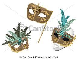 carnival masks venetian carnival masks isolated on white background clipart