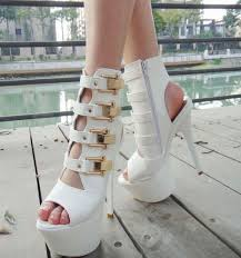 fashion spring and autumn sandals ankle boots black 16cm ultra