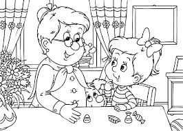 grandmother turn tv coloring pages color luna