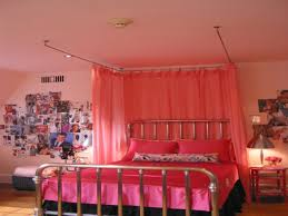 Custom Bedroom Curtains White Inspiration Bedroom Lovable Pink Themes Canopy Bed Curtains And