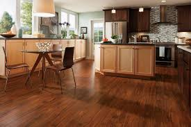 Kitchen Floor Farmhouse Kitchen White Cabinets Bamboo Flooring - Bamboo backsplash