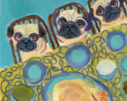 pug thanksgiving etsy