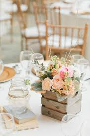Wood Box Centerpiece by Sierra Madre California Wedding From Onelove Photography