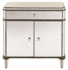 Mirrored Night Stands Hollywood Regency Mirrored Nightstand Wholesale Interiors Baxton