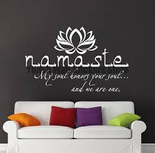 stickers citations chambre namaste sticker citation vinyle autocollant stickers citations