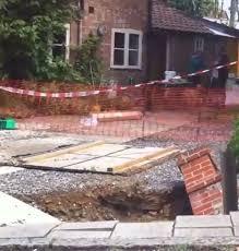 Sinkhole In Backyard Family U0027s Back Garden U0027swallowed By Sinkhole U0027 After Giant Gaping