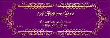 gift voucher samples purple velvet gift voucher template get certificate templates