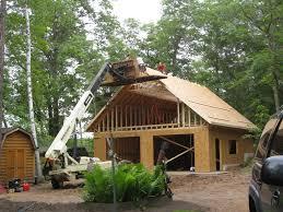Gambrel Cabin Plans by Alluring Gambrel Garage Plans