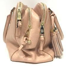 Light Pink Leather Purse Tory Burch Robinson Satchel Light Pink Leather Handbag With Tassel