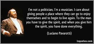 i m not a politician i m a musician i care about giving a