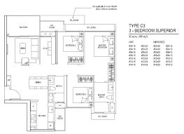 floor plans for inz residence ec choa chu kang mrt station