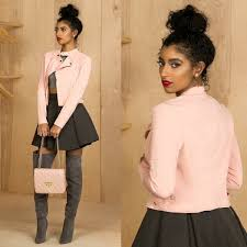 light pink blazer forever 21 35 off forever 21 jackets blazers baby pink motorcycle jacket