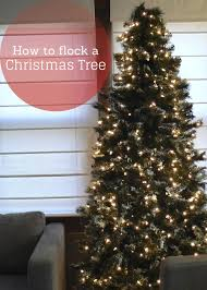 how to flock a pre lit tree house design
