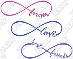eps format vs jpeg best friends love and forever infinity cutting file set in svg