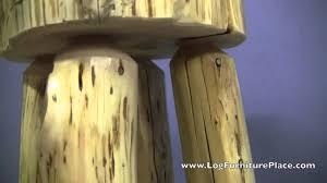 cedar lake slab stool log bar stool youtube