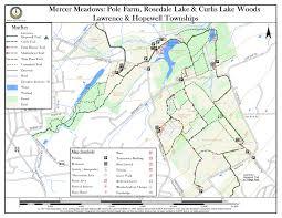 Lake Pleasant Map Mercer Meadows Pole Farm Rosedale Lake U0026 Curlis Lake Woods New