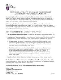sponsor u0027s affidavit of annual cash support and proof of financial