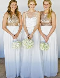 sequin top bridesmaid dresses sequins top white chiffon bridesmaid dress