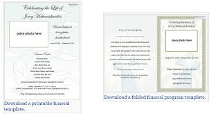 funeral program template our favorite actually free funeral program templates urns