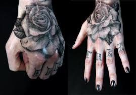brilliant flower hand tattoo design for attractive women
