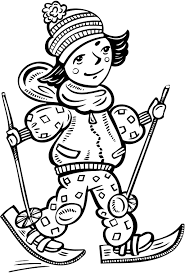 printable coloring pages of a cross country skiing coloring