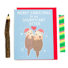 significant otter pun cards funny christmas card funny