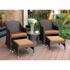 Patio Chair And Ottoman Set Patio Chair With Hidden Ottoman