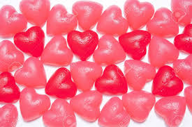 heart shaped candy assorted heart shaped jelly candy on white stock photo picture