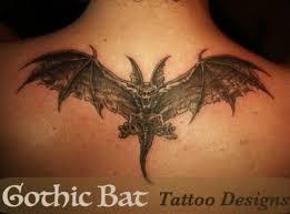 gothic bat tattoos tatring