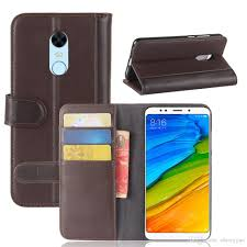 Redmi 5 Plus Flip Cover For Xiaomi Redmi 5 Plus Tpu Genuine Leather Wallet