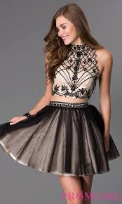 mock two piece dave and johnny dress promgirl