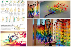 Make Wall Decorations At Home by Guide On How To Create A Colorful Rainbow Diy Crane Curtain Video