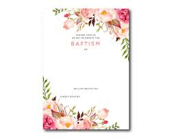 invitation templates awesome free template free printable baptism floral invitation