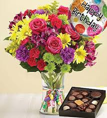 flowers and chocolate it s your day bouquet happy birthday large with chocolate