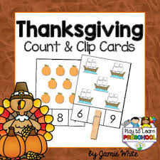 thanksgiving counting free by play to learn preschool tpt