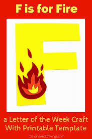 letter f craft with printable u2013 f is for fire