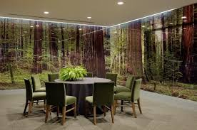 themed dining room dining room with see through glass room in a forest