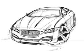 cars drawings jaguar xe sketch pinterest car sketch and product sketch