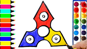 fidget spinner coloring page learn colors for girls and kids