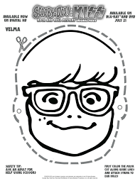 free printable scooby doo velma mask printable coloring pages