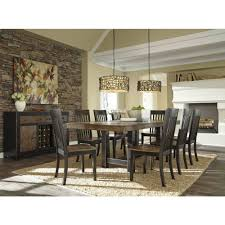 ashley furniture emerfield rectangular dining extended table set