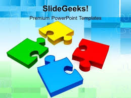 colorful puzzle pieces powerpoint templates and powerpoint themes