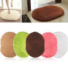 non slip shaggy mat bath floor soft memory plush rug for bathroom