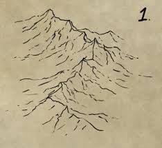 how to draw shade and colour a mountain range fantastic maps